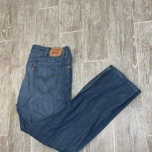 Levis 505 Straight Fit Jeans Blue Faded 40x30